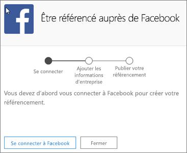 Capture d'écran: Entrez l'adresse électronique et le mot de passe associés au compte Facebook de votre entreprise