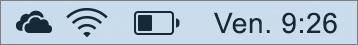 Icône OneDrive figurant dans la barre d'état système Mac