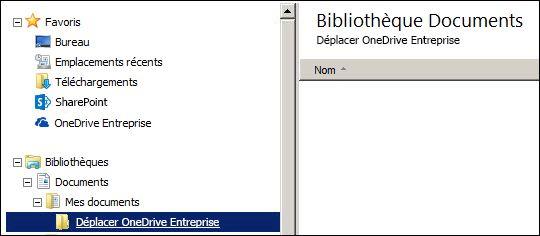 Dossier pour les fichiers intermédiaires à déplacer vers Office 365