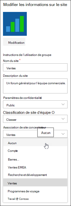 Dissocier un site d'un site concentrateur SharePoint
