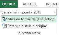 L'option Mise en forme de la sélection apparaît sous l'onglet Format.
