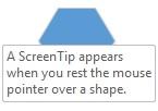 Un Visio ScreenTip s'affiche lorsque vous placez le pointeur de souris au-dessus d'une forme.