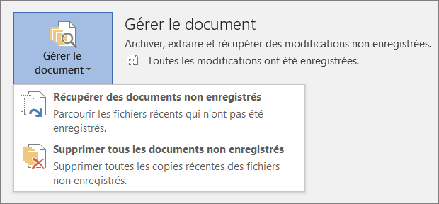 Office 2016 - Gérer des documents