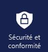 Application de sécurité et conformité dans le menu de l'application Office 365