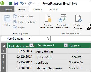 Power Pivot Table view
