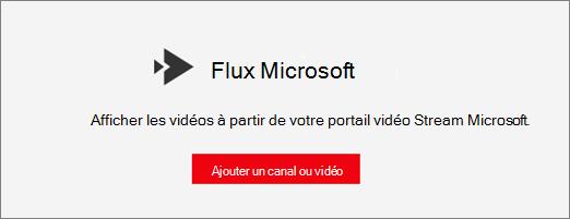 Composant WebPart Stream Microsoft