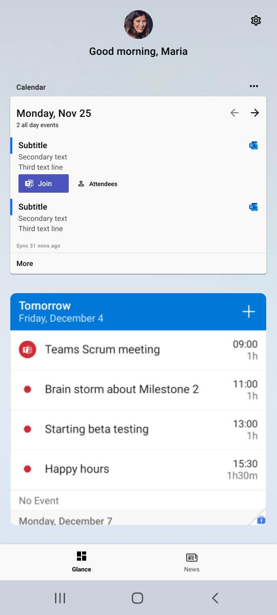 Exemple de widget de travail