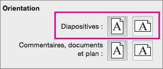 PowerPoint pour Mac - Orientation de page