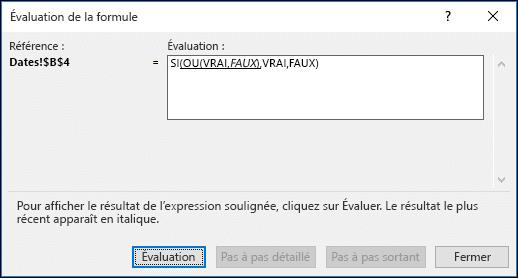 Exemple d'utilisation de l'Assistant Évaluer la formule
