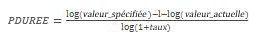 Équation PDUREE