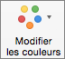 Dans l'onglet Création de graphique, sélectionner Modifier les couleurs