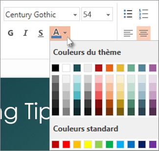 Sélectionner une couleur de texte