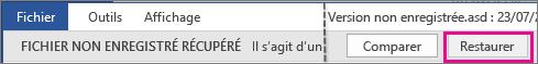 Office2016 - Ouvrir un fichier non enregistré