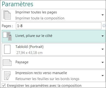 Imprimer un livret ou un bulletin d'informations sur papier au format 279,4x432mm (Tabloïd US).
