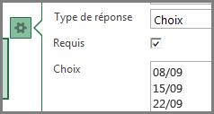 Champ Choix