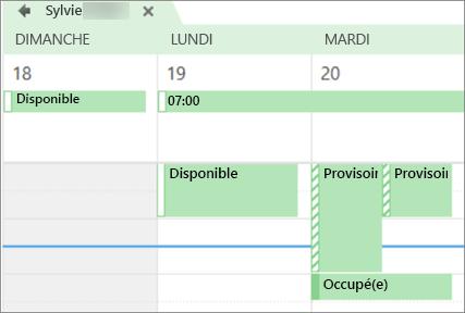 Quoi votre calendrier ressemble à la personne que vous avez partagé avec.