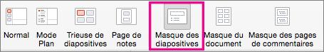 PowerPoint pour Mac - Commande Masque des diapositives