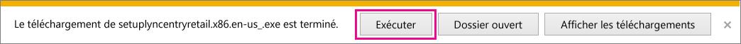 Sélectionnez Exécuter pour démarrer l'Assistant Configuration.