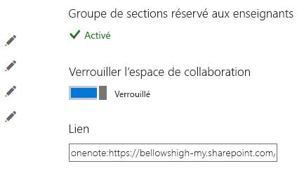 Verrouillez l'espace de collaboration en plaçant le bouton en position verrouillée.
