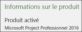 Informations sur le projet - Project Professionnel2016