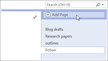 Ajoutez d'autres pages à vos blocs-notes.