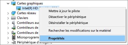 Accédez au Gestionnaire de périphériques Windows pour gérer vos pilotes de carte graphique.