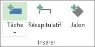 Image du bouton Tâche dans le groupe Insertion de l'onglet Tâche.
