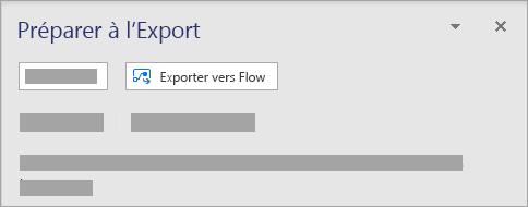 Dans la section flux Microsoft sous l'onglet processus, sélectionnez Exporter.