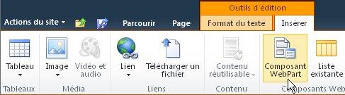 Commande Composant WebPart