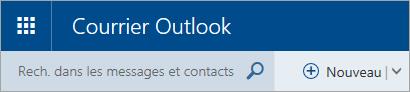 Capture d'écran du coin supérieur gauche de la boîte aux lettres de la version classique d'Outlook.com
