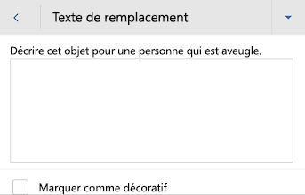 Word pour Android picture alt text dialog box