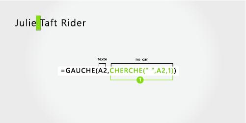 Formule pour séparer un prénom et un nom de famille avec trait d'union