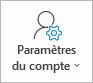 Bouton Paramètres du compte Outlook