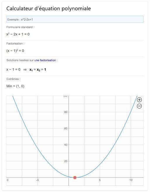 Bing - Solveur d'équations polynomiales
