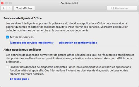 Activer l'featues intelligente sur Mac