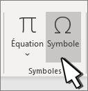 Insérer un symbole
