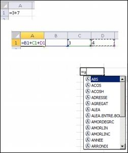 Créer des formules de différentes façons
