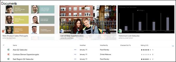 Épingler un lien, fichier ou dossier pour les actualités dans une bibliothèque de documents
