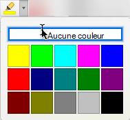 Galerie de bouton et la couleur de la mise en surbrillance du texte