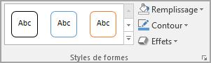 Styles de formes