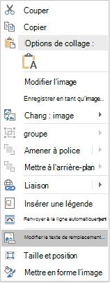 Menu Win32 de Word modifier un texte de remplacement pour les images