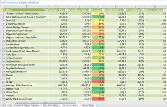 Rapport Excel Services affiché dans un composant WebPart PerformancePoint