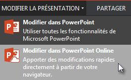 Ouvrir dans PowerPoint Online