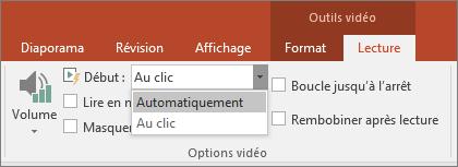 Options vidéo de PowerPoint