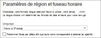Définir votre langue dans Outlook Web App et décider si vous voulez renommer les dossiers