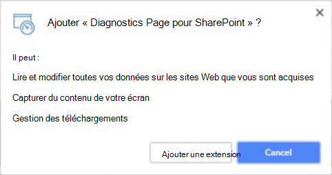 Autorisations du magasin de chrome