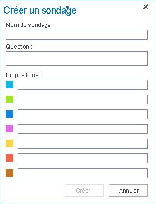 Capture d'écran de Créer un sondage