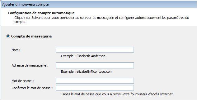 Outlook2010 - Ajouter le nom et l'adresse de courrier