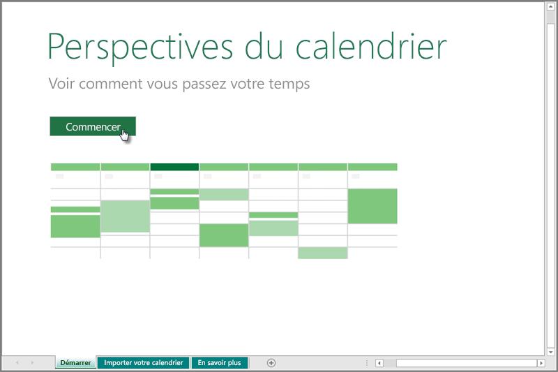 Modèle Perspectives de calendrier