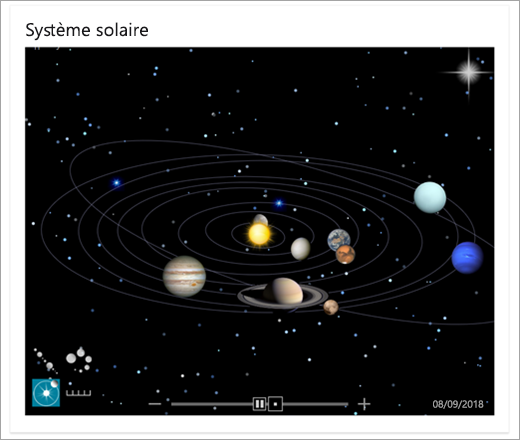 Bing - Carte du système solaire